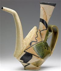 geometric sculptural teapot by john gill
