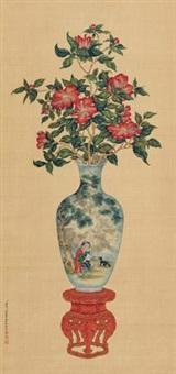 瓶花竞艳 (flower) by lang shining and jiang pu