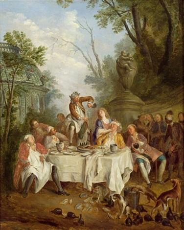 le déjeuner de jambon by nicolas lancret