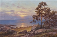 the sea and pine trees by arthur heickell