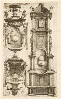 entwurf für drei waschbecken (design) by daniel hopfer