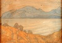 vue d'un lac dans les montages by maximilian alexandrovich voloshin