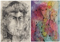 visage fantastique (various sizes; 2 works) by marguerite acarin
