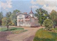 villa med grönskande park by anton genberg