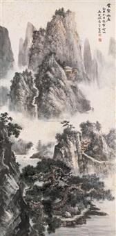 云壑幽居图 by ma qi'ou