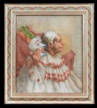 e. grant as a clown by robert brackman