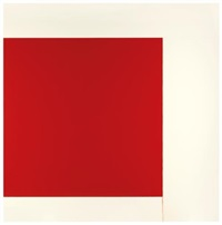 exposed painting - cadmium red by callum innes
