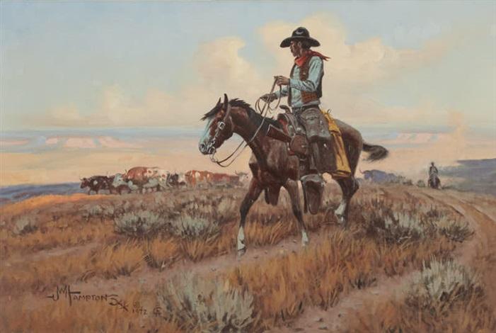 On the Cattle Trail by John Wade Hampton on artnet