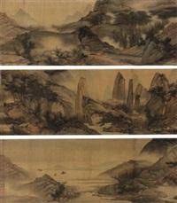 landscape of tiantai shan by liu du
