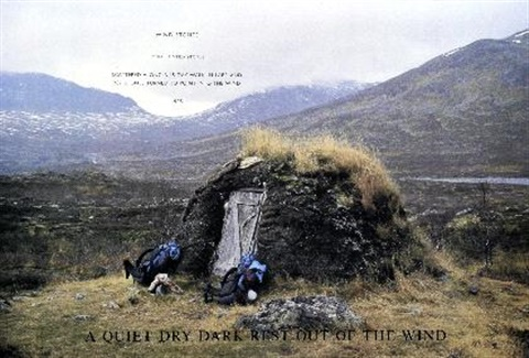 a quiet dry dark rest out of the wind by richard long