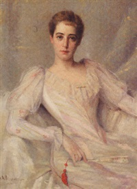 portrait of louise van beuren bond by abraham archibald anderson