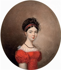 portrait of countess maria ivanovna de traversay by c. vernet