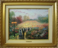 the garden party by thomas kinkade
