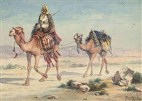 an arab traveller in the desert by tony binder