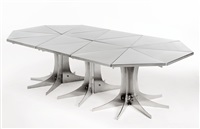 adjustable dining table by philippe hiquily