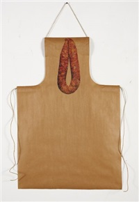 untitled - apron and thai pork sausage recipe by rirkrit tiravanija