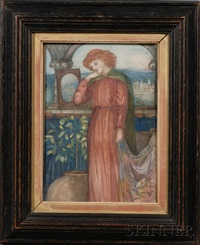 portrait of the lady of shalott by henry treffry dunn