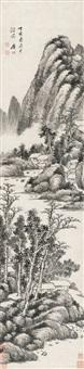 墨笔山水 (landscape) by tu zhuo