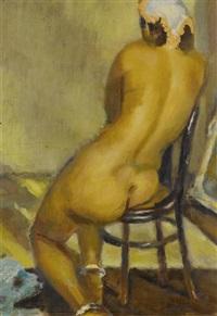 femme nue de dos aux bracelets de cheville by mahmoud said