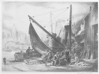new york harbor by charles wheeler locke