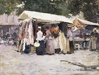 marché à bruxelles by emile hoeterickx