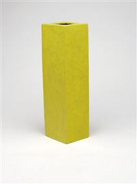 yellow vase by guido and bruno gambone