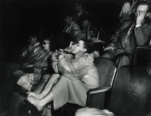 lovers at the palace theatre ii 1945 by weegee