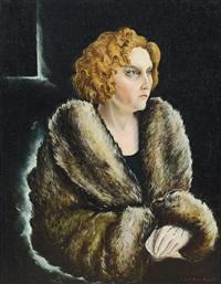 ritratto di amalia cristini di blasi by renato guttuso