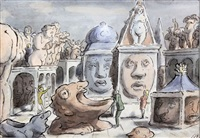 monstrous statuary by edward ardizzone