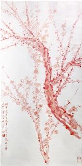 朱梅图 (red plum tree) by fu baoshi