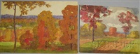 autumn scene (+ another; 2 works) by harry spiers