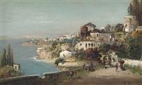 a busy coastal path, italy by robert alott