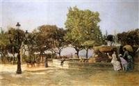 der brunnen fontana delle paparelle in neapel by domenico battaglia