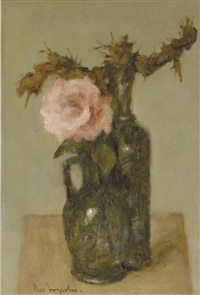 a still life with a rose by theo swagemakers