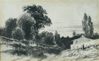 cottage with a figure by john constable