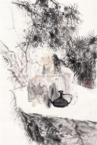 罗汉图 by dai shunzhi