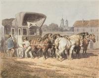 postkutsche by théodore fort