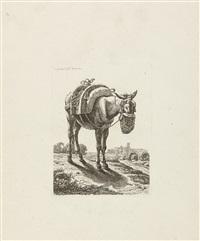 6 bll.: aus der zweiten tierfolge (6 works) by johann christian reinhart