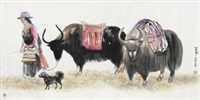 西藏风情 by jiang yixun