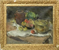 nature morte aux fruits by victor simonin