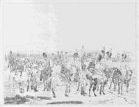 la cavalerie bavaro-palatine en marche - camp de l'infanterie bavaro-palatine unter anderem (5 works) by adam von bartsch