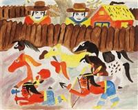 indianer und pferde by carl christian thegen