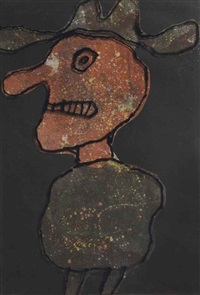 maquette for personnage au chapeau by jean dubuffet