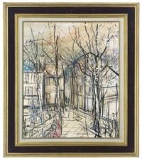 rue norvins, place du tertre, montmartre, paris by michel marie poulain
