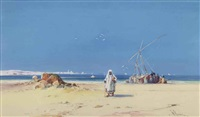 unloading a vessel on the egyptian coast by william knox