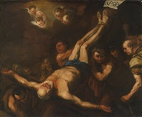 crucifixion of st. peter by luca giordano