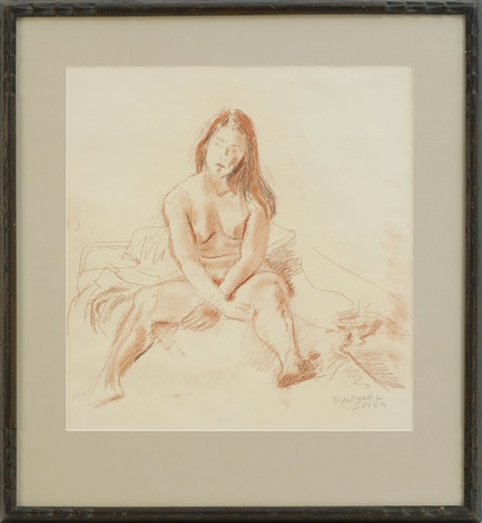 seated nude by raphael soyer