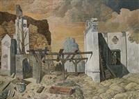 ruine im gebirge by hermann kresges