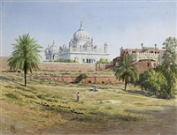 the mausoleum of maharajah ranjit singh, lahore by anonymous-british (20)