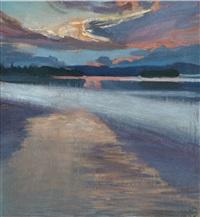 sunset by akseli valdemar gallen-kallela
